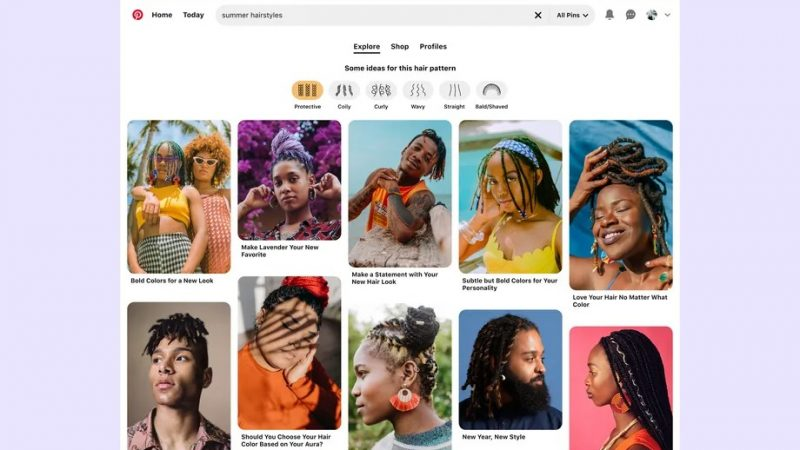 Pinterest is adding search filters for different hair textures